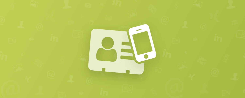 Visitenkartenleser Stationäre Geräte Oder Mobile Apps